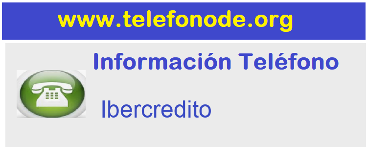 Telefono  Ibercredito