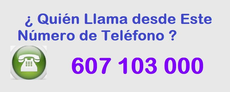 teléfono 607103000