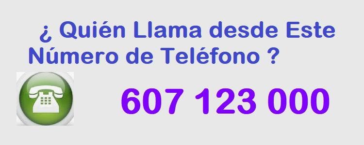 teléfono 607123000