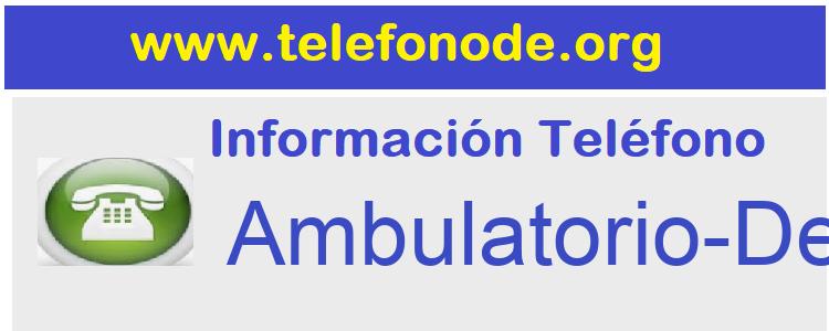 Telefono  Ambulatorio-Deusto
