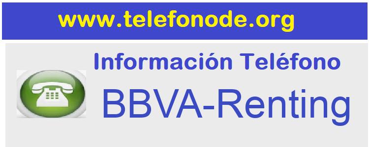 Telefono  BBVA-Renting