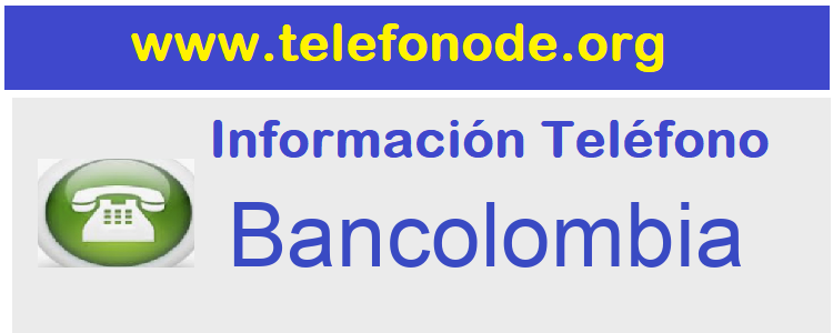 Telefono  Bancolombia