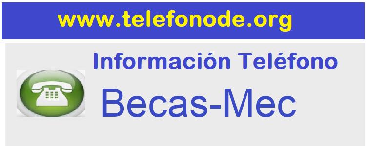Telefono  Becas-Mec