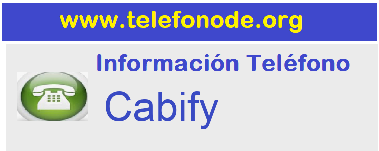 Telefono  Cabify