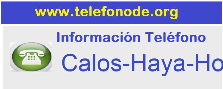 Telefono  Calos-Haya-Hospital