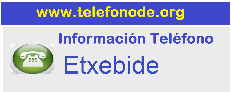 Telefono  Etxebide