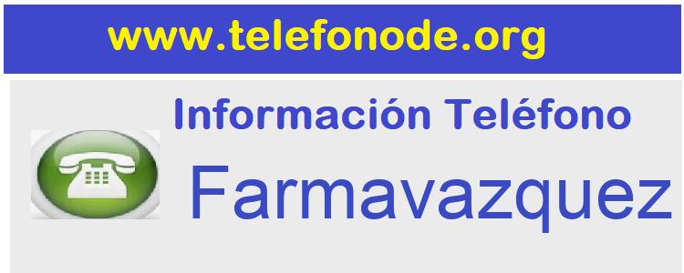 Telefono  Farmavazquez