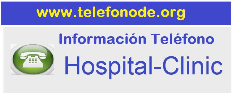 Telefono  Hospital-Clinic