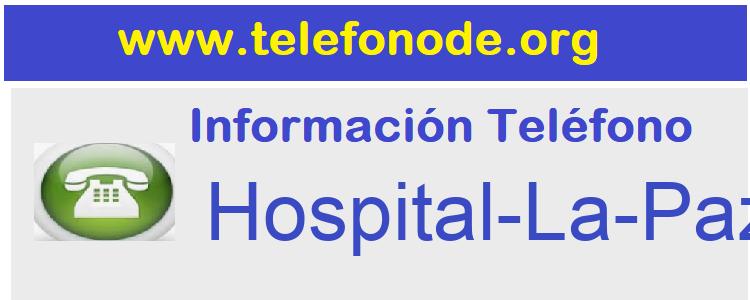 Telefono  Hospital-La-Paz