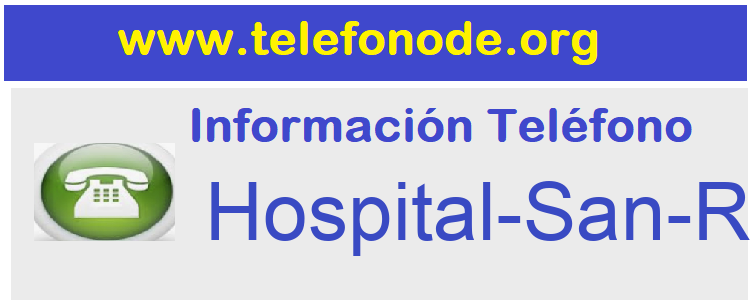 Telefono  Hospital-San-Rafael