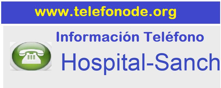 Telefono  Hospital-Sanchinarro