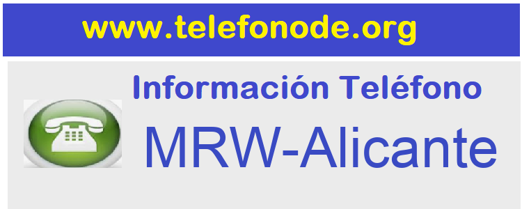 Telefono  MRW-Alicante