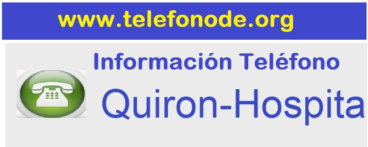 Telefono  Quiron-Hospitales