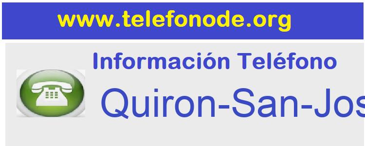 Telefono  Quiron-San-Jose