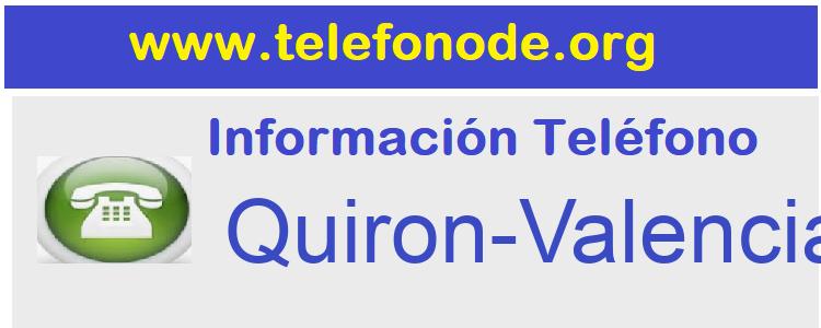 Telefono  Quiron-Valencia