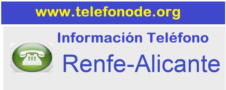 Telefono  Renfe-Alicante