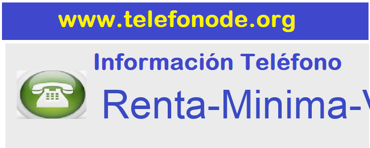 Telefono  Renta-Minima-Vital