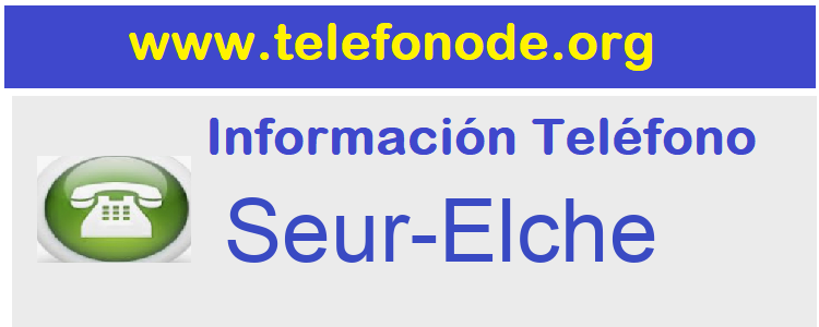 Telefono  Seur-Elche