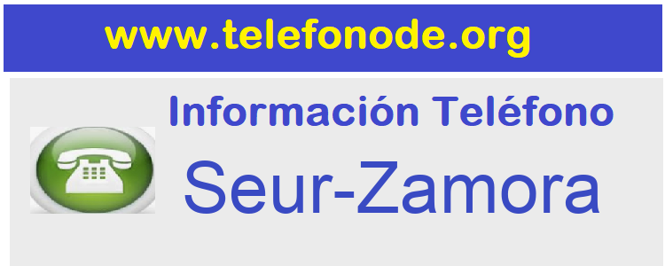 Telefono  Seur-Zamora