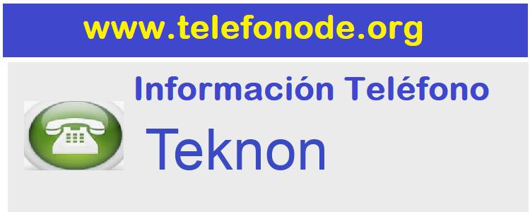 Telefono  Teknon
