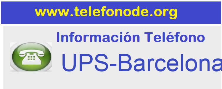 Telefono  UPS-Barcelona