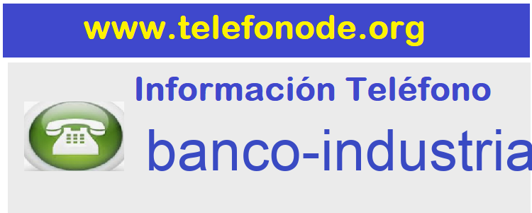 Telefono  banco-industrial-bilbao