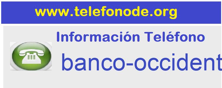 Telefono  banco-occidental