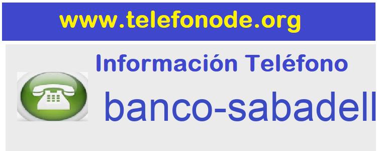 Telefono  banco-sabadell