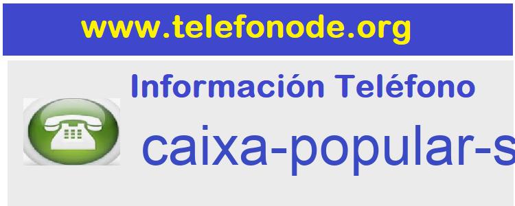 Telefono  caixa-popular-sdadcoop