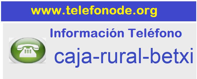 Telefono  caja-rural-betxi