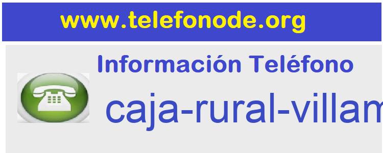 Telefono  caja-rural-villamalea