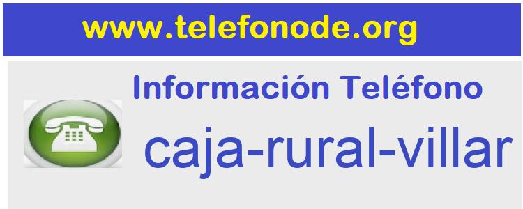 Telefono  caja-rural-villar