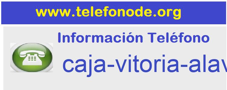 Telefono  caja-vitoria-alava